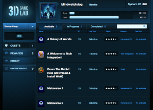 Home page for 3D GameLab